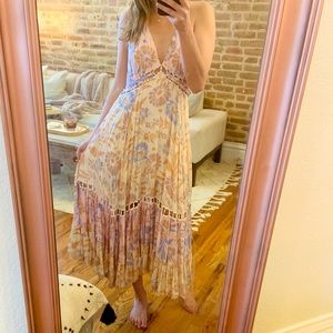 Free People Halter Style Maxi Dress